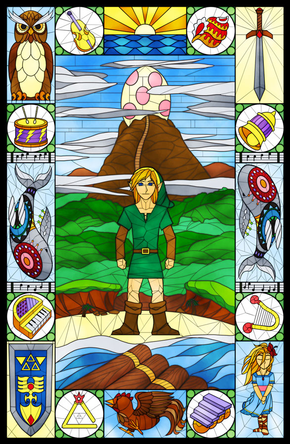 <B>Link's Awakening � Stained Glass</B><BR />