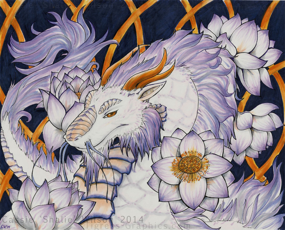 <B>Lotus Dragon</B><BR />Copic Markers