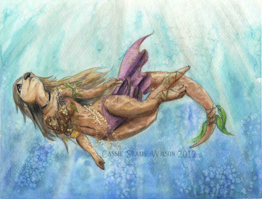 <B>The Sea Otter</B><BR />Watercolors